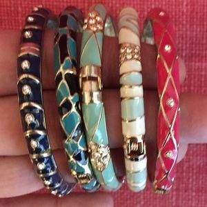 Assorted Enamel Bangle Bracelets by Sequin